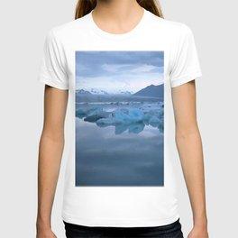 Watercolor Landscape, Jokulsarlon 03, Iceland T-shirt