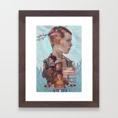 Stranger Kids Framed Art Print
