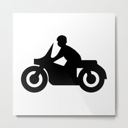Motorcycle Silhouette Metal Print