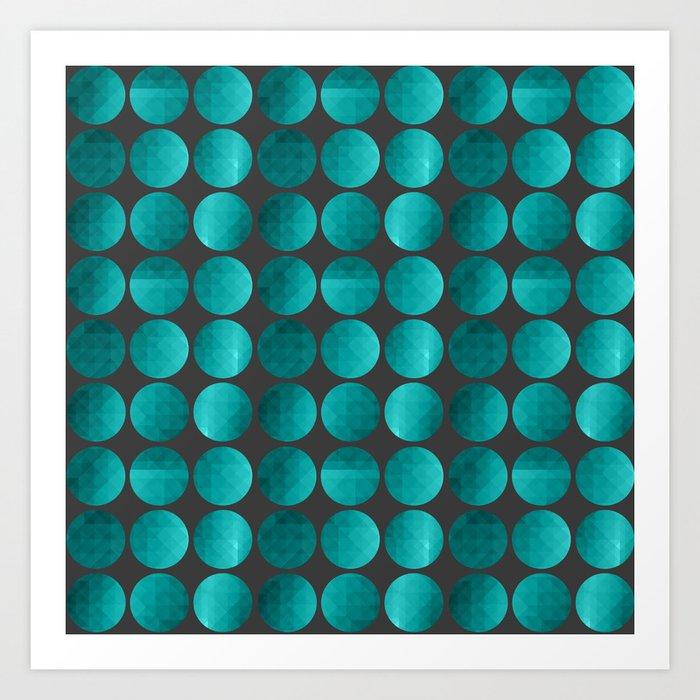 Emerald circles Art Print
