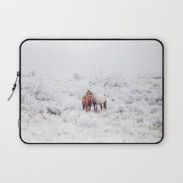 Two Winter Horses Laptop Sleeve
