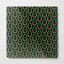 Avocado Pattern (black) Metal Print