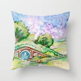 Bilbo's House Throw Pillow