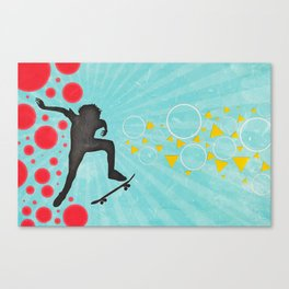 Skateboarder Canvas Print