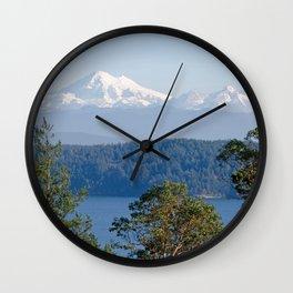 MOUNT BAKER FROM ZEE HILL ORCAS ISLAND Wall Clock