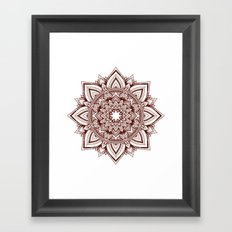 fire escape mandala Framed Art Print