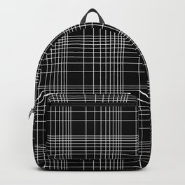 Back to School- Simple Handdrawn Grid Pattern - Black & White - Mix & Match with Simplicity of Life Backpack