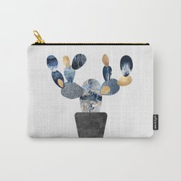 Blue & Gold Cactus Carry-All Pouch