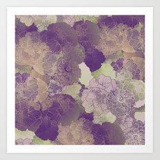 Aubergine Floral Hues Art Print