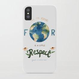 Respect Earth Art iPhone Case