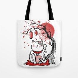 Japanese Neko Tote Bag