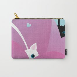 Black Cat and White Cat Carry-All Pouch