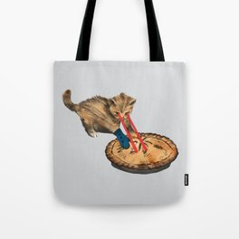 Laser-Eyed Kitten with a Mitten Tote Bag