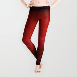 Abstract Red Black Dark Matter Leggings