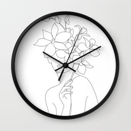 Lady Orchidea Wall Clock