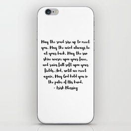 Irish Blessing May The Road Rise Up To Meet You iPhone Skin