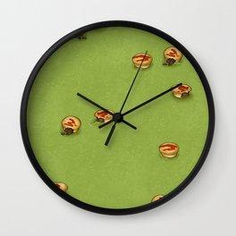 Adelaide Pie Floater, extra mushy peas please Wall Clock