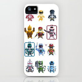 Nostalgic Retro gaming pixel tokusatsu sentai heroes. iPhone Case
