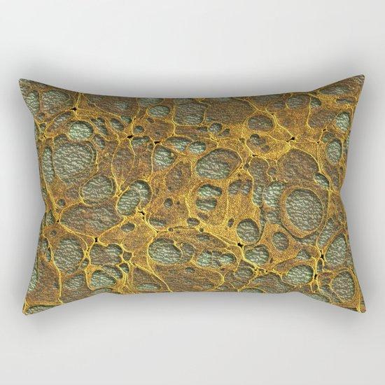 Golden Marble 07 Rectangular Pillow