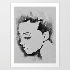Portrait  (Ink Painting) Art Print