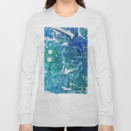 Sea Leaves, Environmental Love of the Ocean Blue Long Sleeve T-shirt