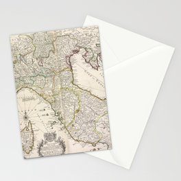 A new map of the upper part of Italy, containing ye principality of Piemont ye Dutchies of Savoy, Milan, Parma, Mantua, Modena, Tuscany, the dominions Stationery Cards