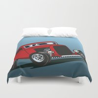 ford Duvet Covers featuring 32 Ford Sedan by dogmartin