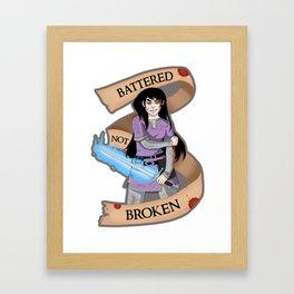 Battered Not Broken v.2 Framed Art Print