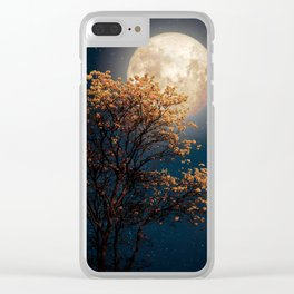 Under Full Moon Clear iPhone Case