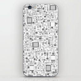 All Tech Line / Highly detailed computer circuit board pattern iPhone Skin