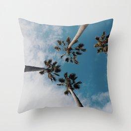 Palm Tree Summer Fun Throw Pillow