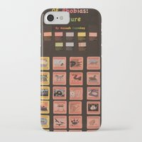 periodic table iPhone & iPod Cases featuring Periodic Table of Phobias by Darkest Devotion