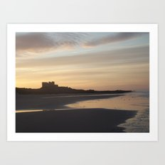 Bamburgh Sunset Art Print