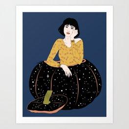 A Special Pumpkin - Colour version Art Print