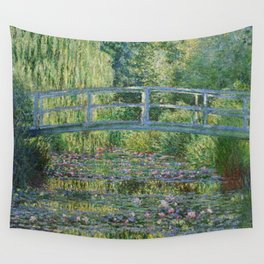 Claude Monet The Japanese Footbridge and the Waterlily Pool at Giverny 1899 Wall Tapestry