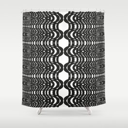 Black and White Swish Shower Curtain