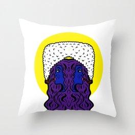 Gemini Goddesses Throw Pillow