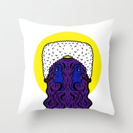 Gemini Goddesses Throw Pillow
