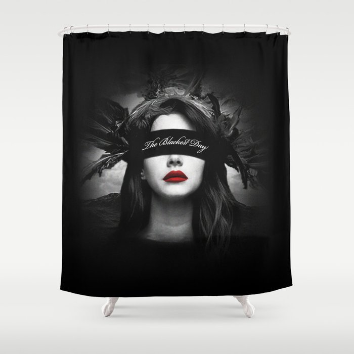 The Blackest Day Shower Curtain