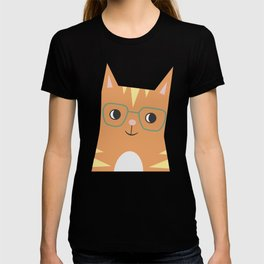 Tabby Cat with Glasses T-shirt