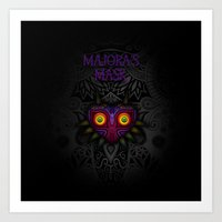 majoras mask Art Prints featuring Majora's Mask by Art & Be
