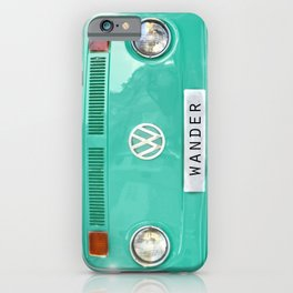 Wander wolkswagen. Summer dreams. Green iPhone Case