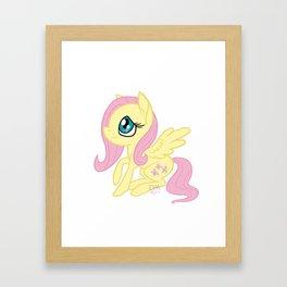 Fluttershy Chibi Framed Art Print