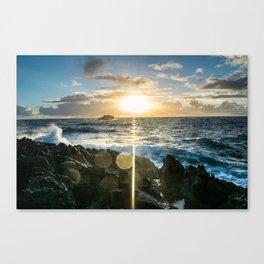 Sunrises in the East, Oahu Canvas Print