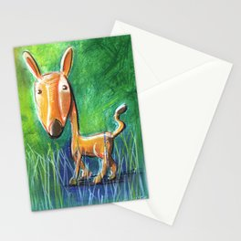 Roe Deer For Children Pastel Chalk Drawing Stationery Cards