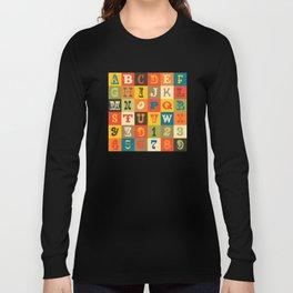 VINTAGE ALPHABET Long Sleeve T-shirt