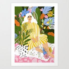 The Jungle Lady Art Print