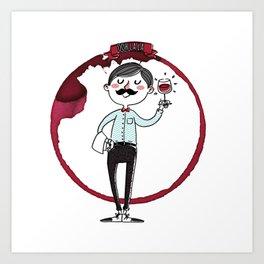 Ooh la la - the wine is good! Art Print