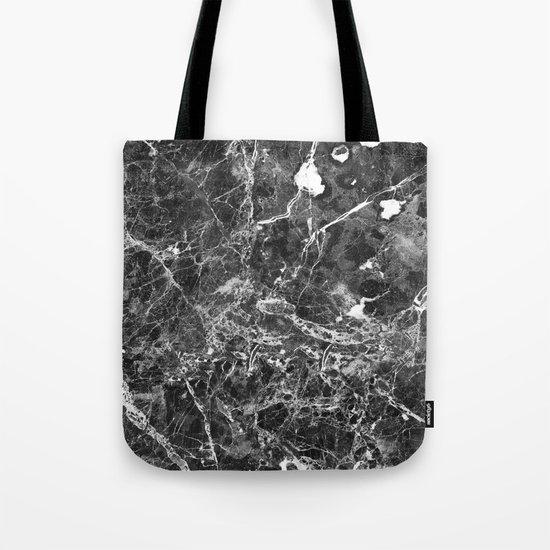 Emprador monochrome marble splash Tote Bag