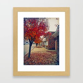 Autumn in Downtown Ironton Framed Art Print